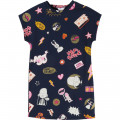 Robe molleton illustration LITTLE MARC JACOBS pour FILLE