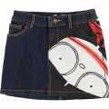 Jupe denim coton extensible LITTLE MARC JACOBS pour FILLE
