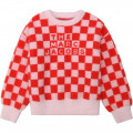 Pull tricot jacquard damier THE MARC JACOBS pour FILLE