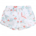 Short à volants motif floral CARREMENT BEAU pour FILLE