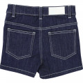 Short denim KARL LAGERFELD KIDS pour FILLE