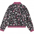 Bomber twill viscose imprimé KARL LAGERFELD KIDS pour FILLE