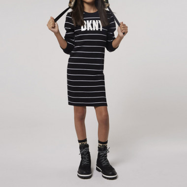 Striped cotton jumper dress DKNY for GIRL
