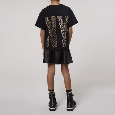 Loose cotton jersey T-shirt DKNY for GIRL