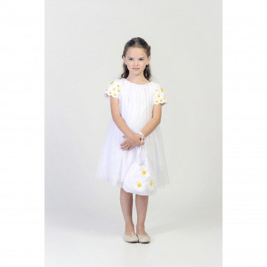 Short-sleeved floral dress CHARABIA for GIRL