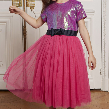 Tulle and sequin midi dress CHARABIA for GIRL