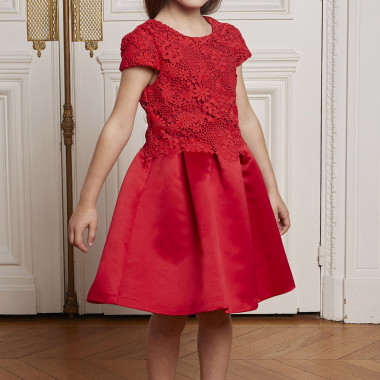 Satin and lace dress CHARABIA for GIRL