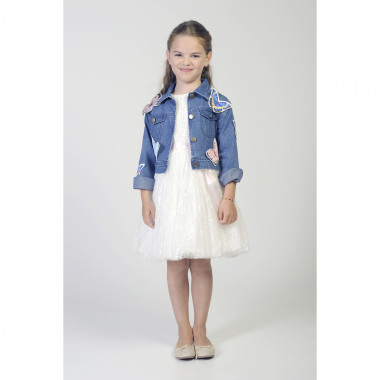 Denim jacket with butterflies CHARABIA for GIRL