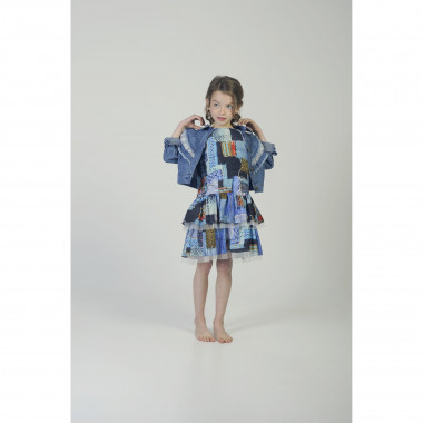 Denim jacket with ruffles CHARABIA for GIRL