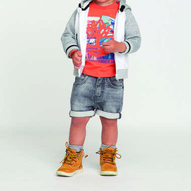 Fleece-effect denim shorts TIMBERLAND for BOY