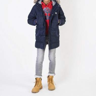 Suede fleece hooded jumper TIMBERLAND for BOY