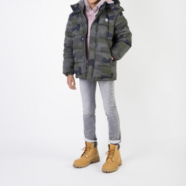 Removable hood padded jacket TIMBERLAND for BOY
