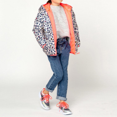 Printed hooded puffer jacket BILLIEBLUSH for GIRL