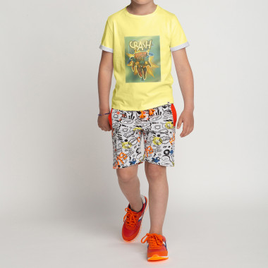 Printed fleece shorts BILLYBANDIT for BOY