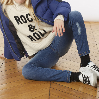 Embroidered rolled-neck jumper ZADIG & VOLTAIRE for GIRL