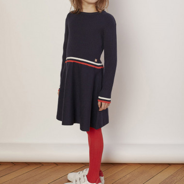 Flared knit dress CARREMENT BEAU for GIRL