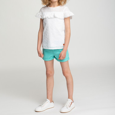 Cotton drill shorts CARREMENT BEAU for GIRL