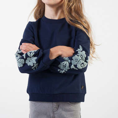 Patterned fleece sweatshirt CARREMENT BEAU for GIRL