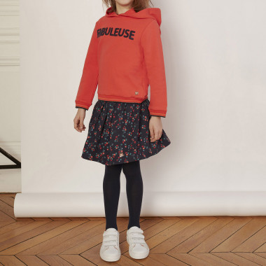 Hooded organic cotton sweater CARREMENT BEAU for GIRL