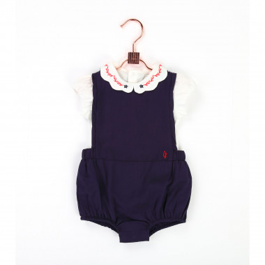 Onesie with embroidered collar CARREMENT BEAU for GIRL
