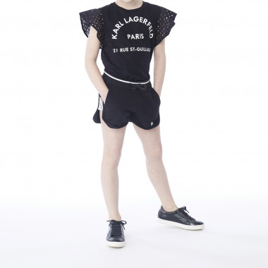 Cotton sportswear shorts KARL LAGERFELD KIDS for GIRL