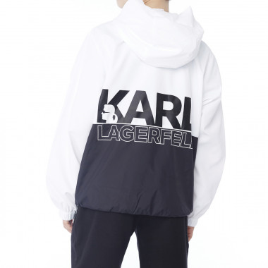Two-toned hooded windbreaker KARL LAGERFELD KIDS for BOY