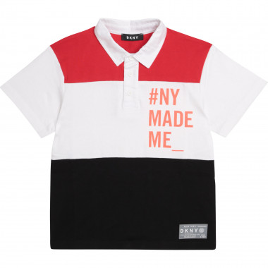 Tricolour cotton polo shirt DKNY for BOY