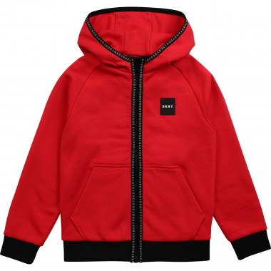 Zip-up hooded cardigan DKNY for BOY