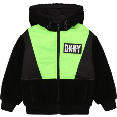 Two-material hooded jacket DKNY for BOY