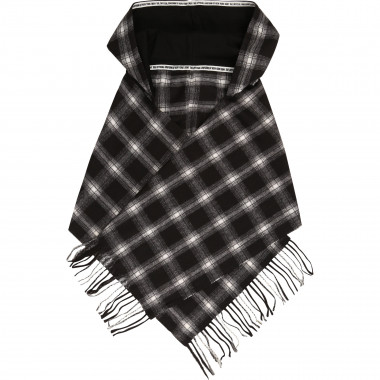 Checked hooded scarf DKNY for GIRL