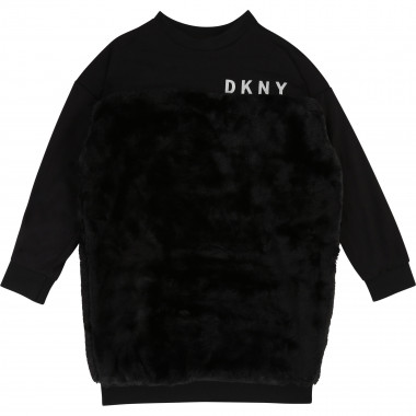 Dual-material dress DKNY for GIRL