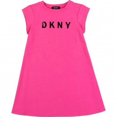 Flared short-sleeved dress DKNY for GIRL