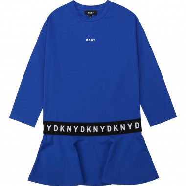 Flared technical fabric dress DKNY for GIRL