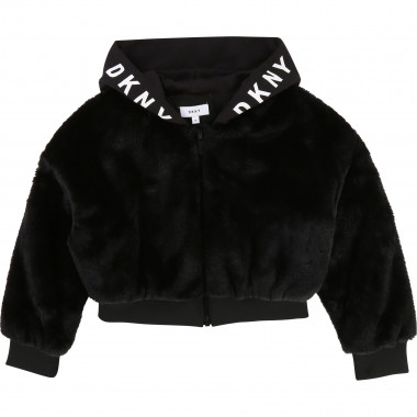Faux fur cardigan DKNY for GIRL