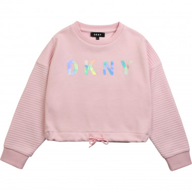 Fleece logo sweatshirt DKNY for GIRL