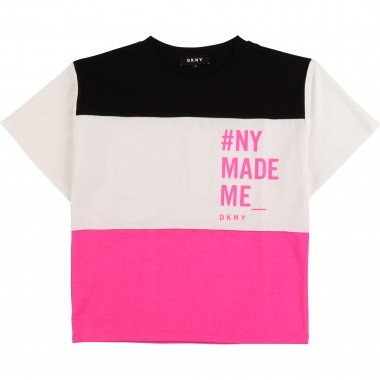 Tricolour striped T-shirt DKNY for GIRL