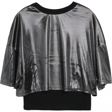 Dual-material 2-in-1 T-shirt DKNY for GIRL