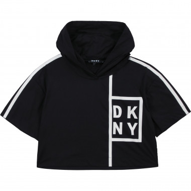 Hooded blouse with stripes DKNY for GIRL