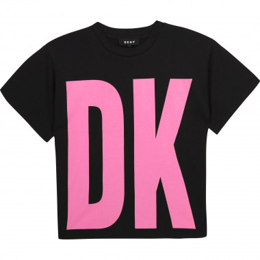 Loose organic cotton T-shirt DKNY for GIRL