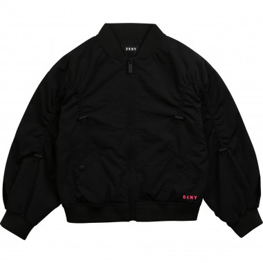 Zipped jacket with logo DKNY for GIRL