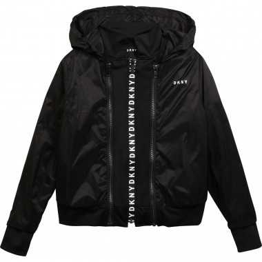 Hooded waterproof windbreaker DKNY for GIRL