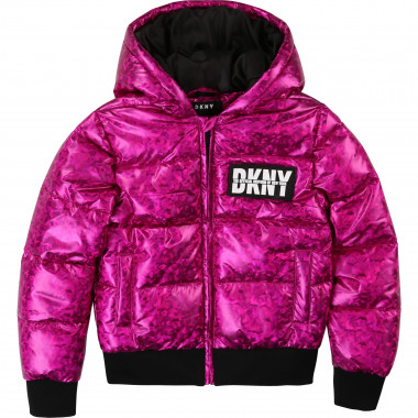 Hooded waterpoof puffer jacket DKNY for GIRL