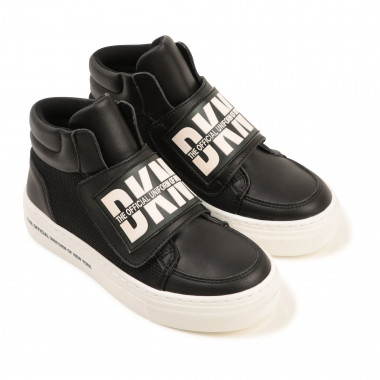 Two-material high-top trainers DKNY for GIRL