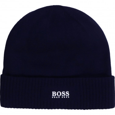 Cotton hat with logo BOSS for BOY