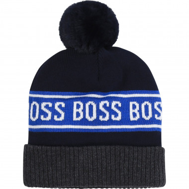 Cotton pompom hat BOSS for BOY