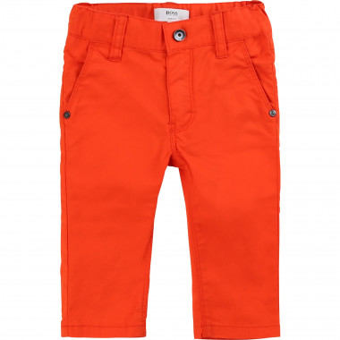 Embroidered-pocket chinos BOSS for BOY