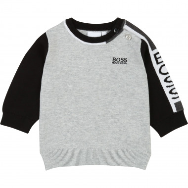 Cotton jumper with logo BOSS for BOY