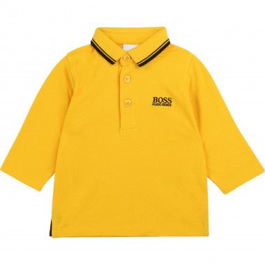 Embroidered cotton polo BOSS for BOY
