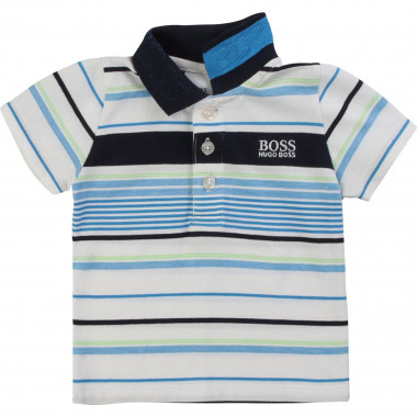 Striped cotton polo shirt BOSS for BOY
