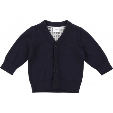 Tricot cardigan with jacquard BOSS for BOY